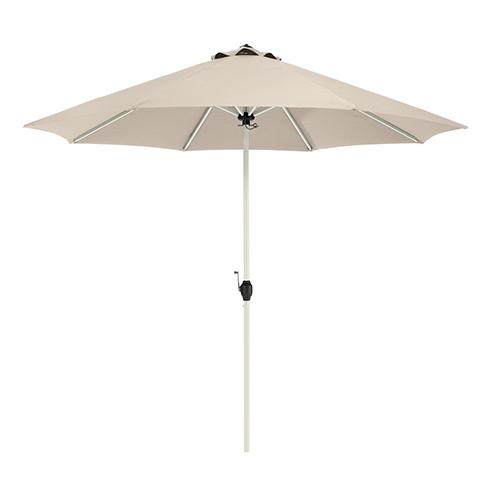 Elm Antique Beige 9 Ft. Fade Safe Round Aluminum Patio Umbrella