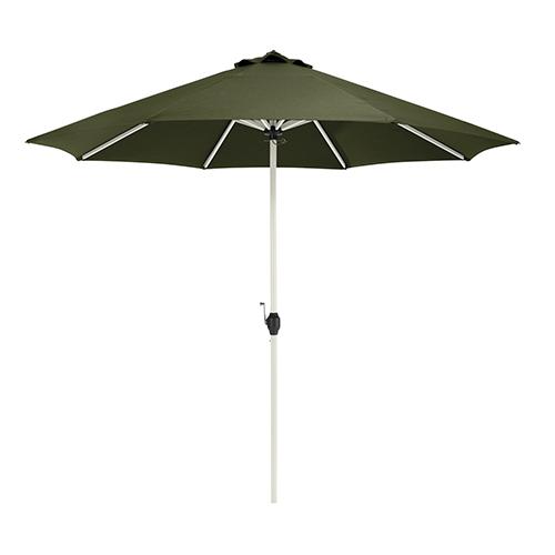 Elm Heather Fern Green Fade Safe 9 Ft. Round Aluminum Patio Umbrella