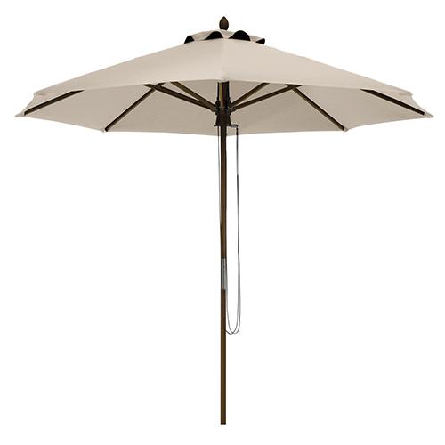 Elm Antique Beige Fade Safe 9 Ft. Round Bamboo Patio Umbrella