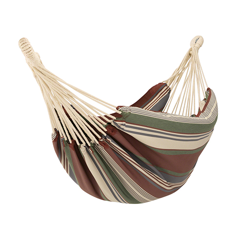 Elm Heather Henna Red Multi-Stripe Fade Safe Brazilian Hammock