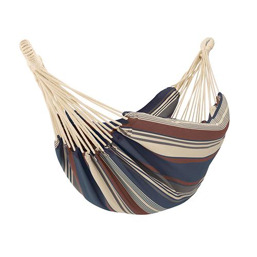 Elm Heather Indigo Blue Multi-Stripe Fade Safe Brazilian Hammock