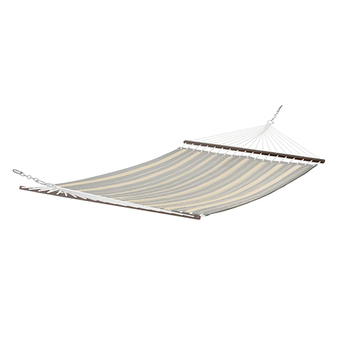 Elm Heather Grey Stripe Fade Safe Quilted Hammock
