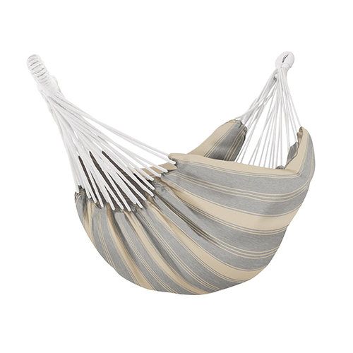 Elm Heather Grey Stripe Fade Safe Brazilian Hammock