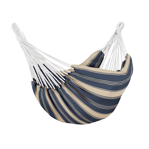 Elm Heather Indigo Blue Stripe Fade Safe Brazilian Hammock