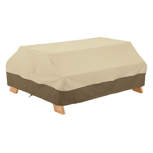 Ash Beige and Brown Picnic Table Cover
