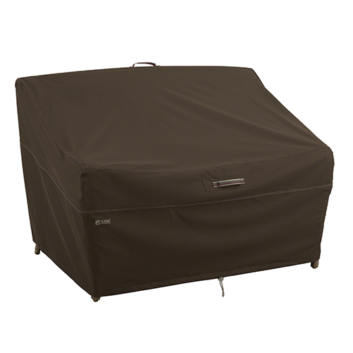 Birch Dark Cocoa Medium RainProof Patio Loveseat Cover