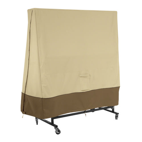 Ash Beige and Brown Ping Pong Table Cover