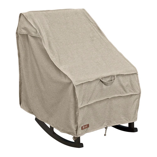 Elm Heather Grey Medium Fade Safe Patio Rocking Chair Cover