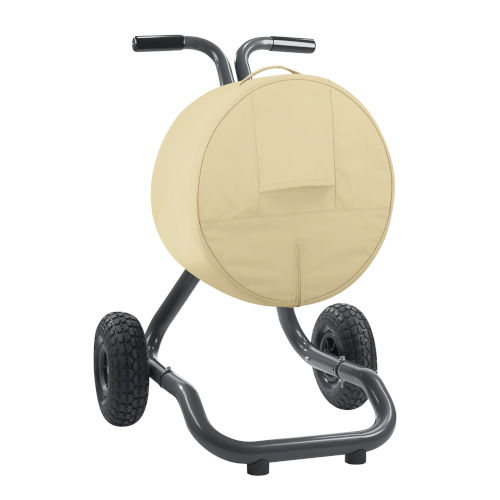 Ash Beige and Brown Free Standing Hose Reel Cover