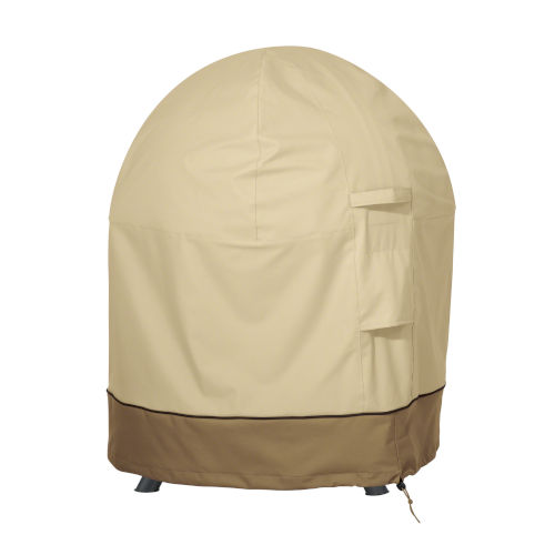 Ash Beige and Brown Globe Fire Pit Cover
