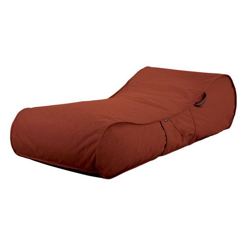 Montlake Red Fadesafe Frameless Furniture Outdoor Patio Lounger
