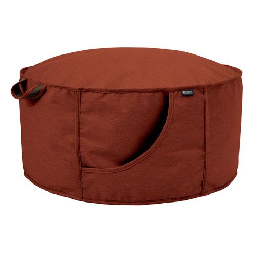 Elm Red Fade Safe Frameless Furniture Outdoor Patio Ottoman