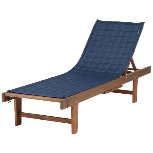 Oak Heather Indigo 72-Inch Patio Chaise Lounge Cover