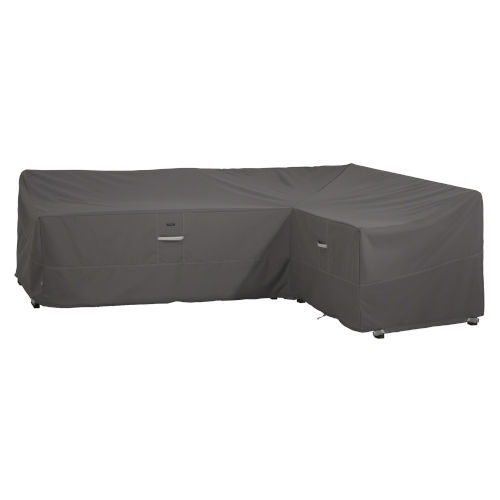 Maple Dark Taupe Patio Right Facing Sectional Lounge Set Cover