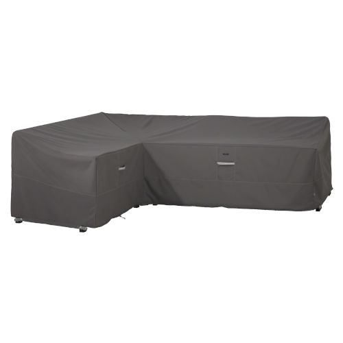 Maple Dark Taupe Patio Left Facing Sectional Lounge Set Cover