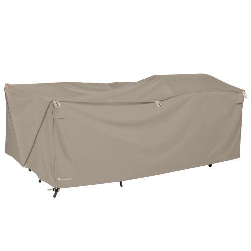 Poplar Goat Tan 14-Inch Easy Fold Patio Furniture Cover
