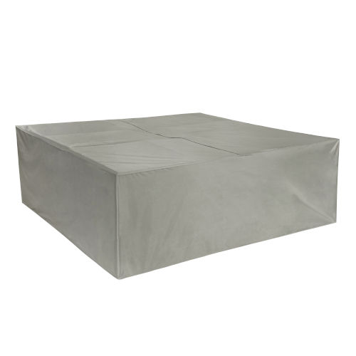 Maple Grey Square Table and Chair Cover