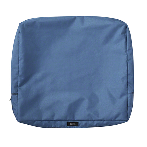 Maple Empire Blue 25 In. x 20 In. Patio Back Cushion Slip Cover