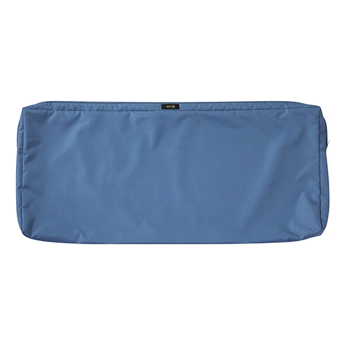 Maple Empire Blue 42 In. x 18 In. Patio Bench Settee Cushion Slip Cover