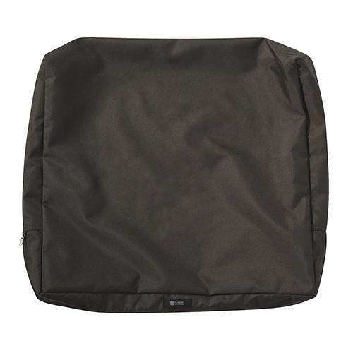 Maple Espresso 23 In. x 20 In. Patio Back Cushion Slip Cover