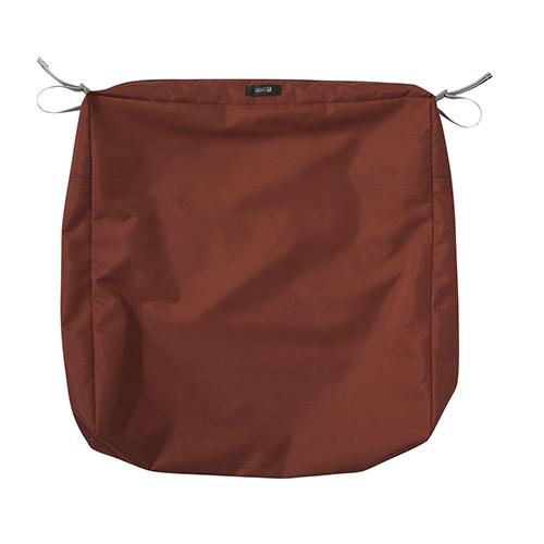 Maple Spice 23 In. x 23 In. Square Patio Seat Cushion Slip Cover