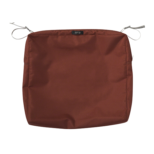 Maple Spice 21 In. x 19 In. x 3 In. Rectangular Patio Seat Cushion Slip Cover