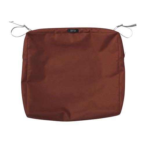 Maple Spice 21 In. x 21 In. Square Patio Seat Cushion Slip Cover