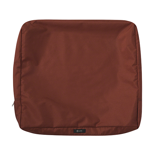 Maple Spice 21 In. x 20 In. Patio Back Cushion Slip Cover