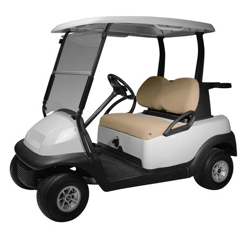 Cypress Khaki Terry Cloth Golf Car Seat Cover