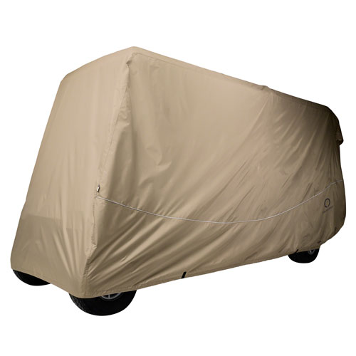 Fairway Golf Car Quick-Fit Cover, 6 Passenger, Extra Long Roof, Khaki