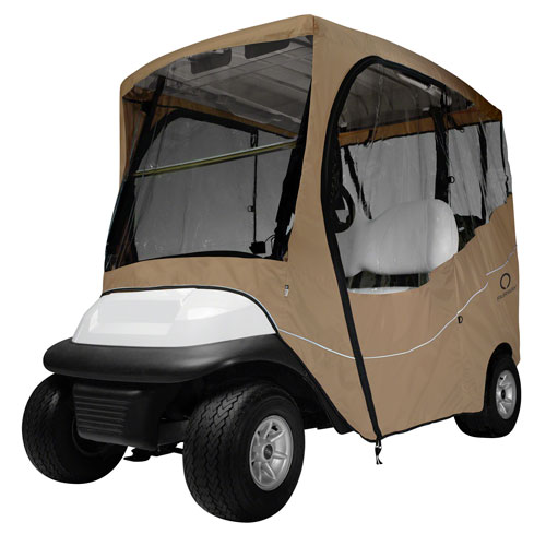 Cypress Khaki Short Roof Travel Golf Car Enclosure