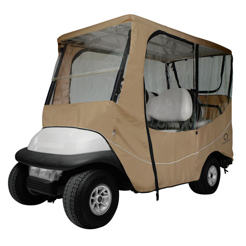 Fairway Travel Golf Car Enclosure, Long Roof, Khaki