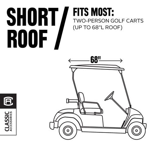 Willow Cypress Navy Short Roof Travel Golf Car Enclosure