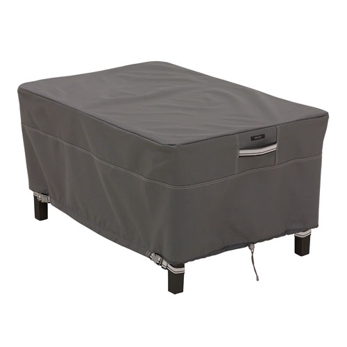 Classic Accessories Ottoman/Side Table Cover Rectangle Taupe - Small