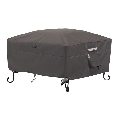 Full Coverage Fire Pit Cover  Taupe- 36 Inch
