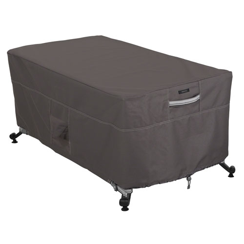Classic Accessories Fire Pit Table Cover Taupe - Rectangle