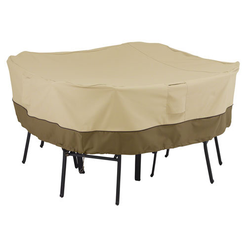 Veranda Earth Toned Square Patio Table and Chair Set Cover, Medium