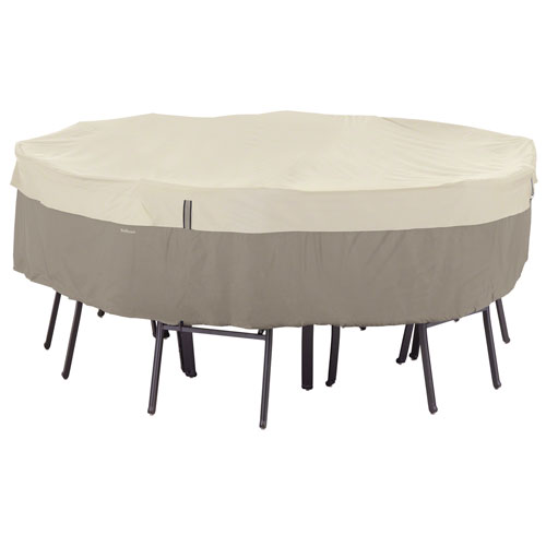 Ash Sidewalk Grey Small Round Patio Table and Chair Set Cover