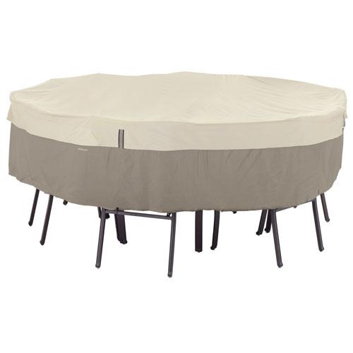 Ash Sidewalk Grey Medium Round Patio Table and Chair Set Cover