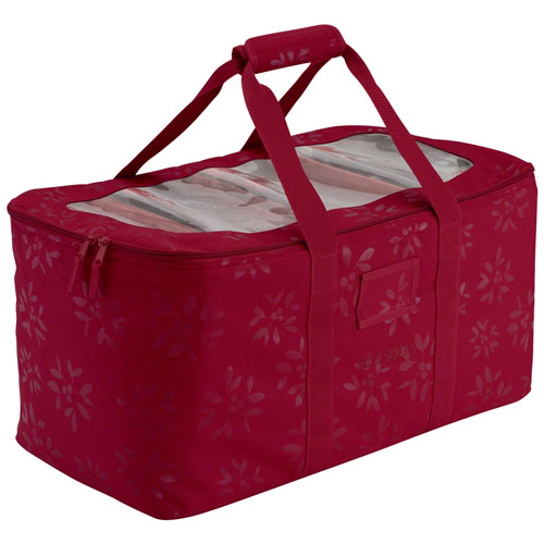 Seasons Cranberry Holiday Lights Storage Duffle