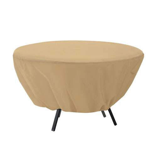 Palm Sand Round Patio Table Cover