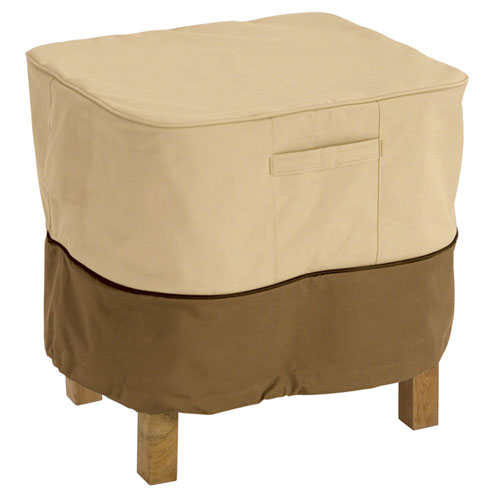 Veranda Earth Toned Large Patio Ottoman and Table Cover, Large