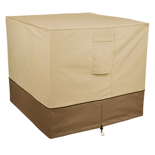 Willow Ash Earth Toned Square Air Conditioner Cover