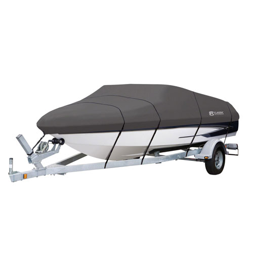 Cypress Grey Model E Boat Cover