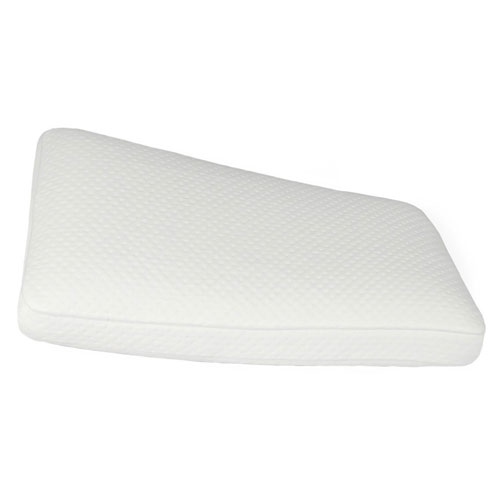 Luxury Extraordinaire White Gusseted Memory Foam Oversized Bed Pillow