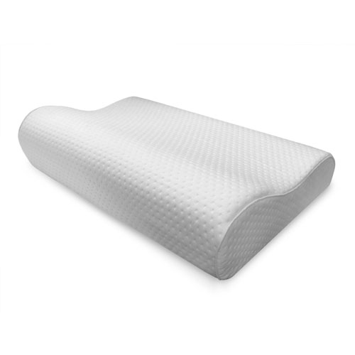 Luxury Extraordinaire White Contour Memory Foam Oversized Bed Pillow