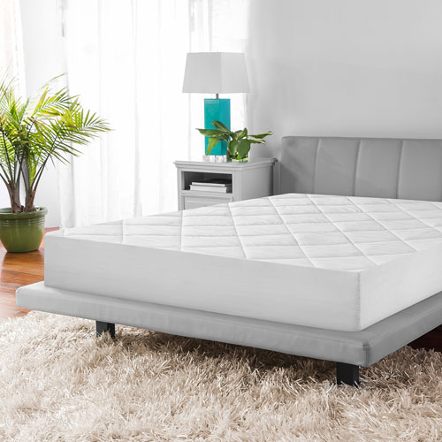 Twin Microshield Quilted Mattress Pad