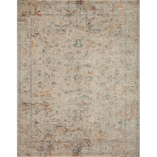 Axel Silver and Spice Area Rug