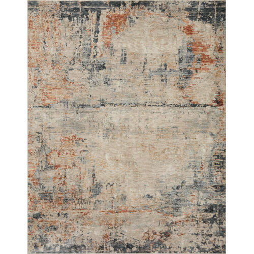 Axel Stone, Blue and Spice Area Rug