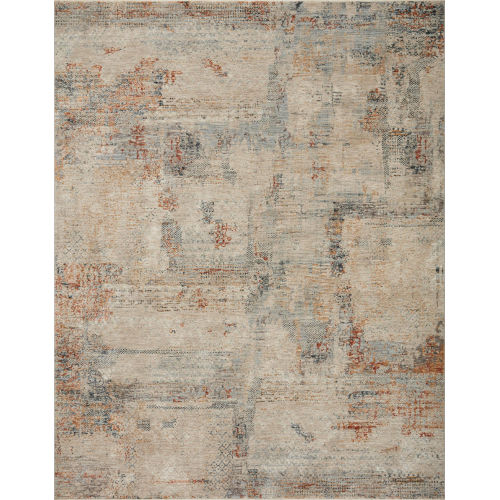 Axel Sand, Spice and Blue Area Rug